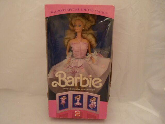 Mattel Lavender Looks Barbie 1989 NRFB #3963 Wal-Mart Special Limited Edition