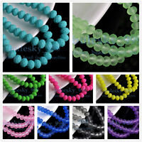 New Extra Colors 50pcs 8x6mm Rondelle Faceted Crystal Glass Loose Spacer Beads