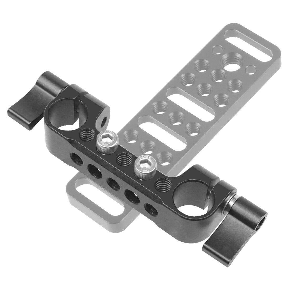 FEICHAO Universal 15mm Rail Lock Rod Clamp Double Connector Knob for DSLR Camera