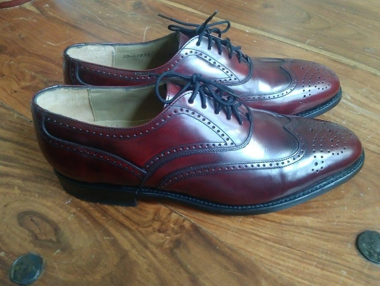J. Murphy By Johnston Murphy Men's Burgundy Wingtip Oxfords dress shoes 7 M
