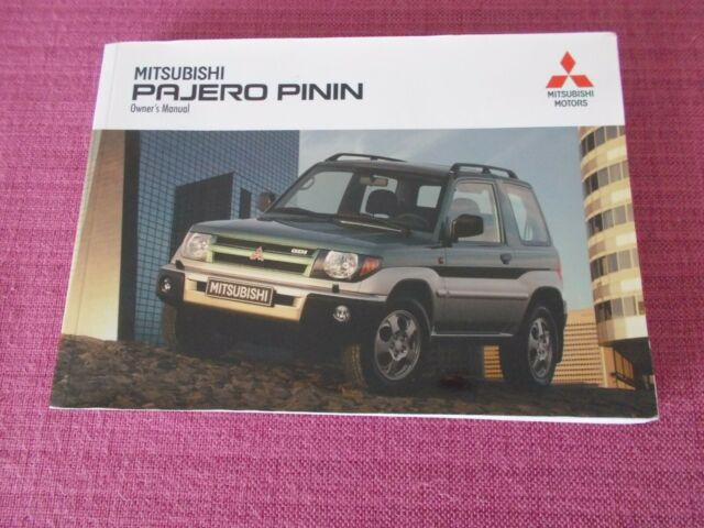 MITSUBISHI PAJERO SHOGUN PININ OWNERS MANUAL HANDBOOK /& DOCUMENT WALLET