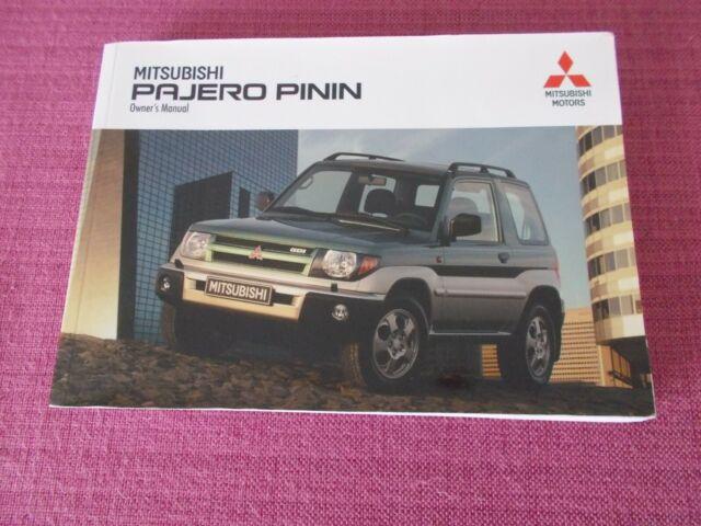 Service & Reparaturanleitungen Pajero Pinin workshop service ...