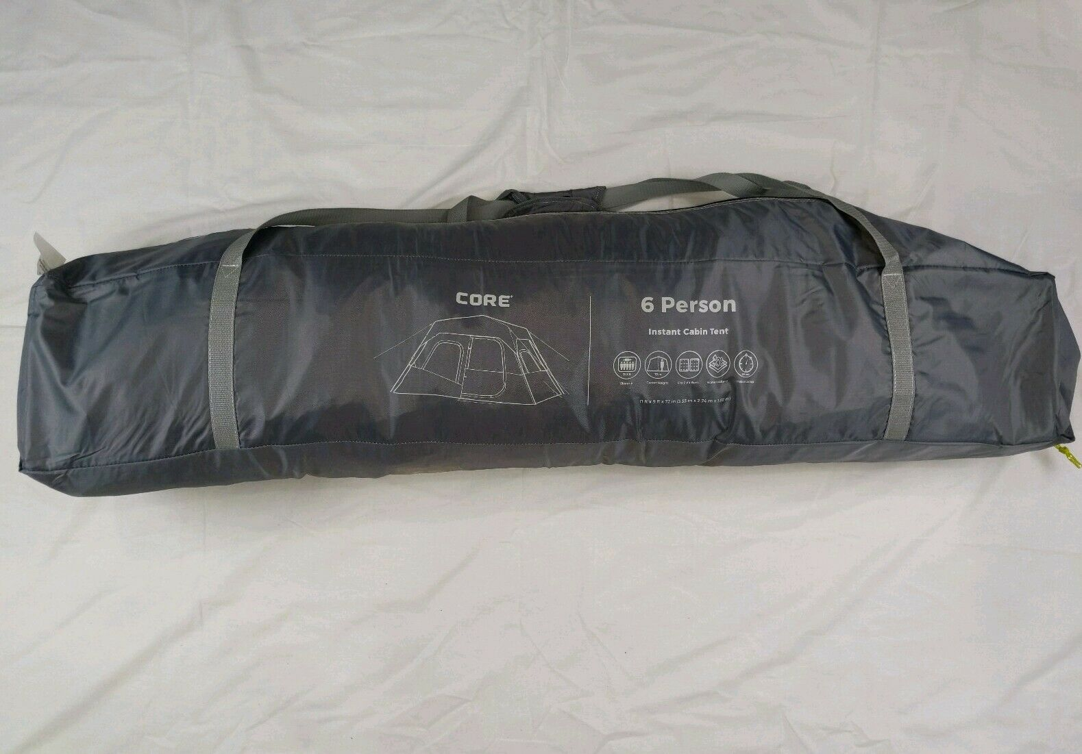 CORE 6-person Instant Cabin Tent G /Green #40007C - Open Box/Store Display
