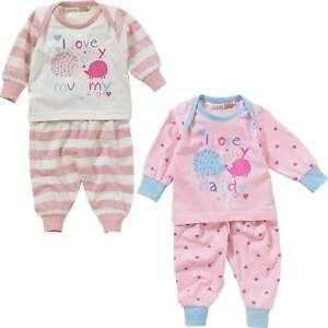 80c4146939d32 Lullaby Baby Girls I Love My Mummy or Daddy Long Sleeve Cotton ...