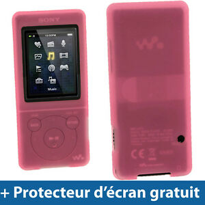 Rose-Etui-Housse-Silicone-Coque-Case-Cover-Sony-Walkman-MP3-NWZ-E575-NWZ-E574