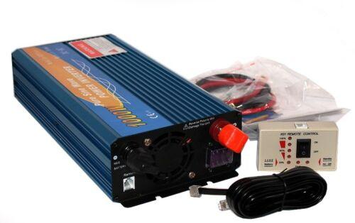 INVERTER CERTIFICATO 1000W EFFETTIVI ONDA SINUSOIDALE PURA 12V DC />220//230V AC