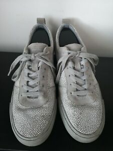 Mens-Converse-Cons-Low-Grey-Lace-Up-Trainers-UK-9-5