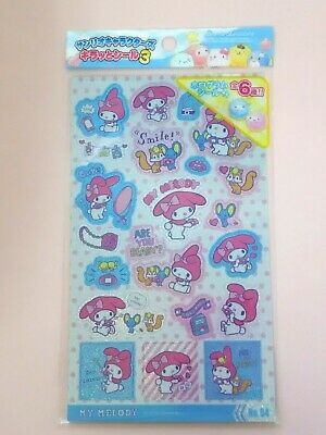 KAWAII Sanrio My Melody /& Kuromi Hologram Sticker Sheet  Japan