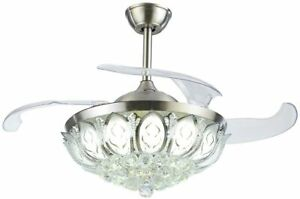 42-Crystal-Ceiling-Fan-Light-Retractable-Blades-Remote-Chrome-Luxury-Chandelier