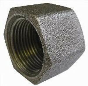 Black Malleable Iron Blanking Cap Stop End Female Thread 1