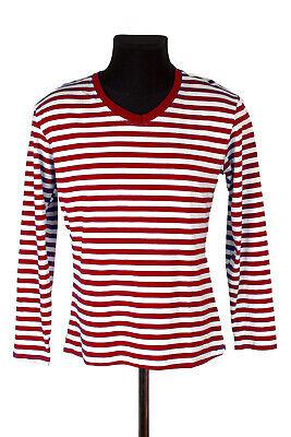 Helpful Damen Ringelshirt Ringelpulli Karnevalskostüm Bekleidung Rot Weiss Xs-2xl Costumes Sweaters Fancy Colours