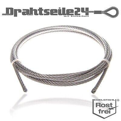 DIN 3055 1,5mm 250 Meter 7x7 Drahtseil Stahlseil Edelstahl V4A