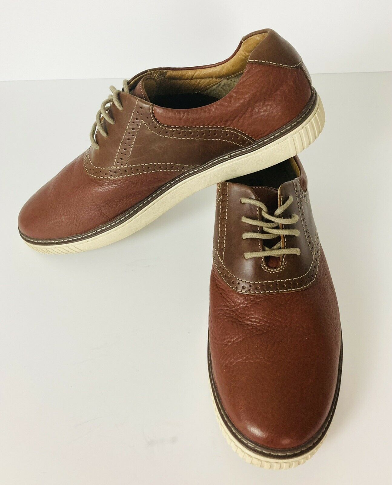 Johnston & Murphy 25-8396 Sheepskin Men's shoes size 12M Brown