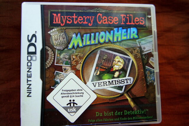 Mystery Case Files: Million Heir - Nintendo DS - Deutsch - Komplett OVP Handbuch