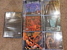 Cradle Of Filth CD/DVD Lot - 6 CDs and 1 DVD (Dusk, Vempire, Median, Cruelty...)