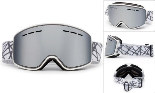 Frameless Snowboard Snowmobile Pro Ski Goggles Mens Womens Anti Fog Dual Lens