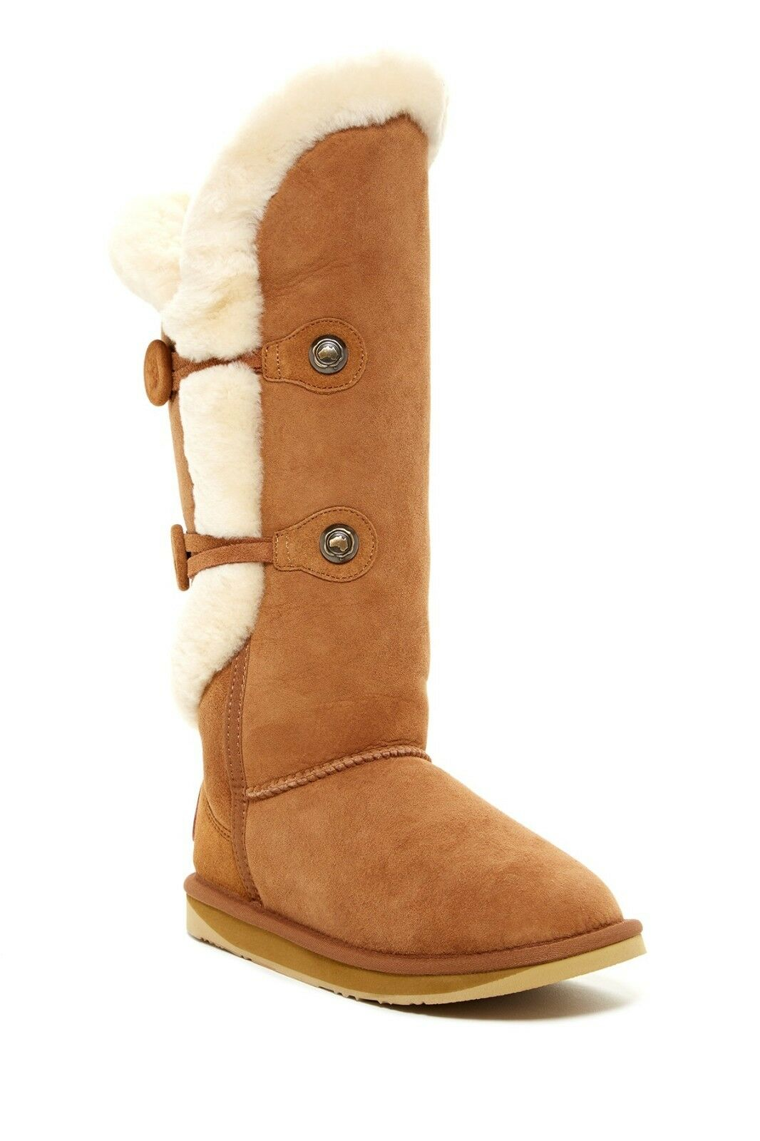 Australia Luxe Collective Nordic Shearling Tall Boot US Size 11 Chestnut NWB