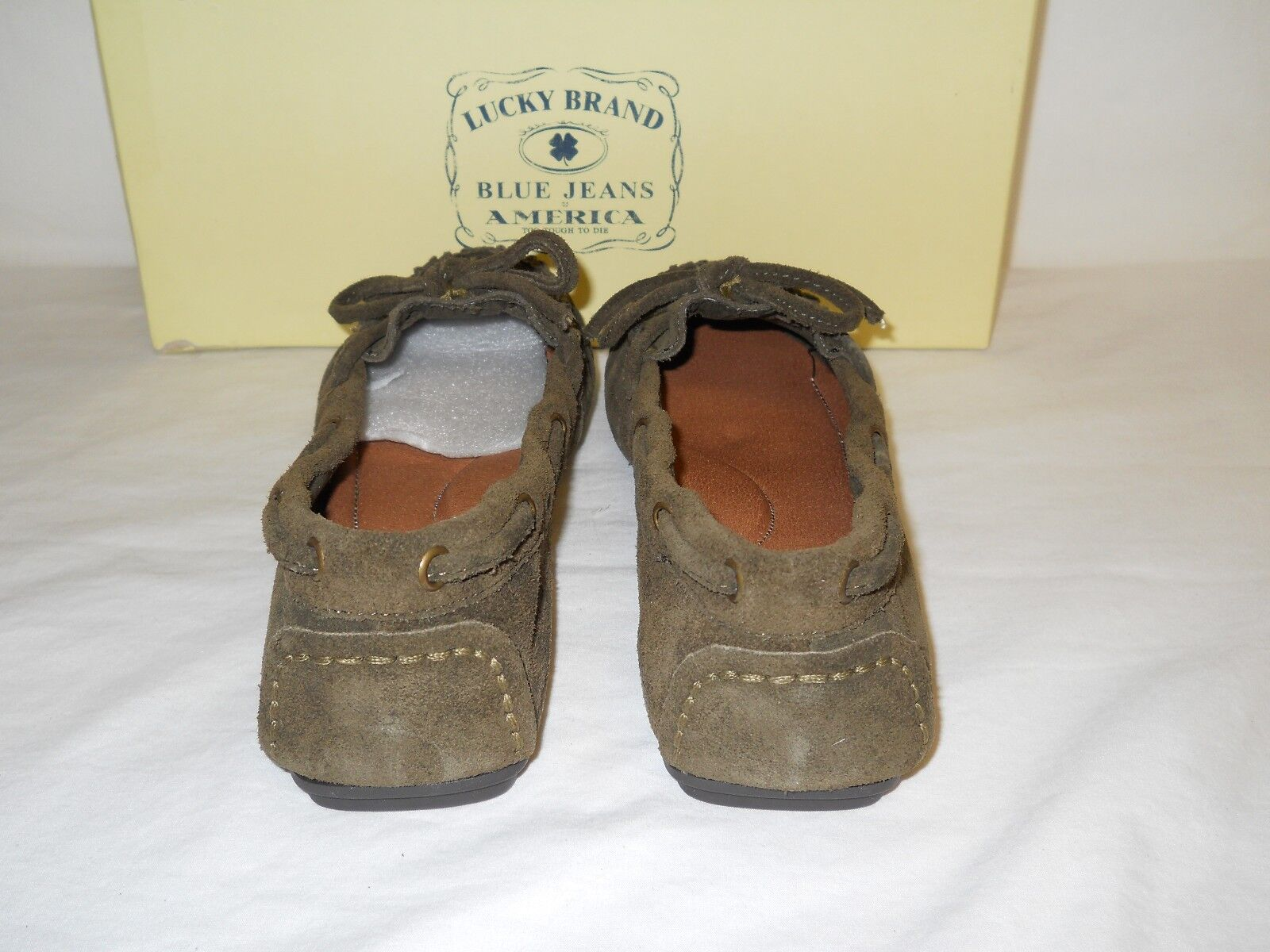 Lucky Moccasins Brand New Donna Darcie Military Suede Moccasins Lucky 6 M Shoes NWB d5849d