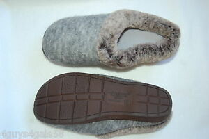 Womens-Slippers-HEATHER-GRAY-DEARFOAM-In-amp-Outdoor-COMFORT-CUSHION-Size-M-7-8