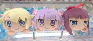 NEW GAME! Nesoberi Plush Doll Stuffed toy 3 set Aoba Hifumi Ko SEGA Anime