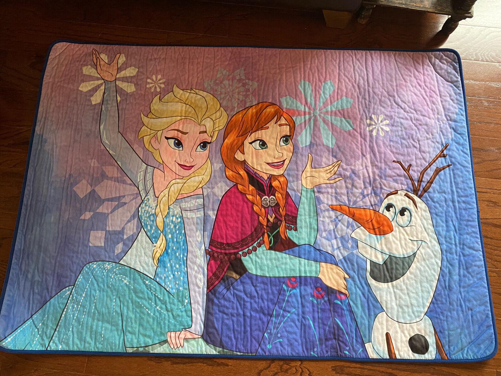 100x190 cm Blue Disney Frozen Elsa /& Anna Kids Rug