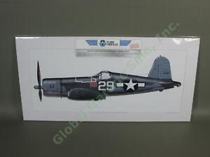 WWII-F4U-1-Corsair-Airplane-Art-USN-Navy-ACE-Ira-Kepford-29-Jolly-Rogers-VF-17