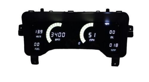 1997-2006 Jeep TJ Digital Dash Panel White LED Gauges Made In The USA