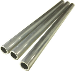 "Aluminum Round Bright Anodized Tubing 7//8/"" OD x 40/"" Long NEW"