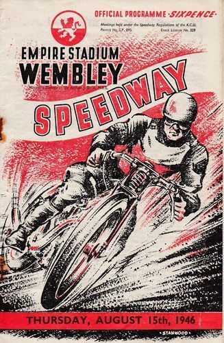 Vintage 1946 Wembley Speedway Competion Poster Print A3//A4