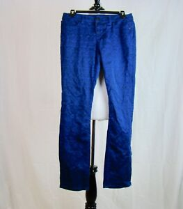 Liverpool-Jeans-Company-Women-039-s-Sapphire-Blue-Black-Printed-Jeans-Size-4