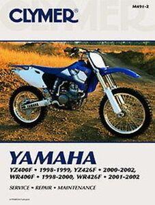 Yamaha YZ400 YZ426 WR400 WR426 1998-2002 Clymer Anleitung M4912 NEU ...