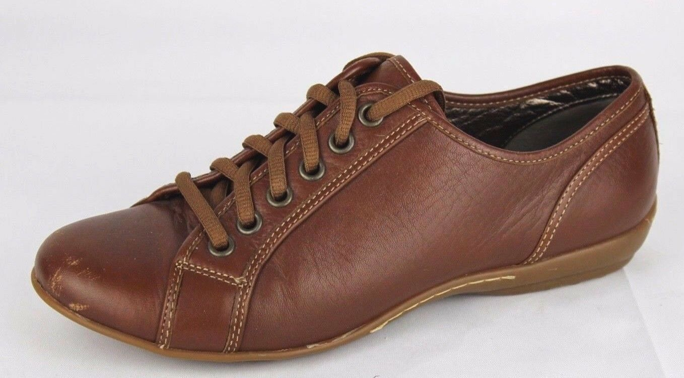 Sofft portland women's sneakers lace up shoes leather brown size 7M