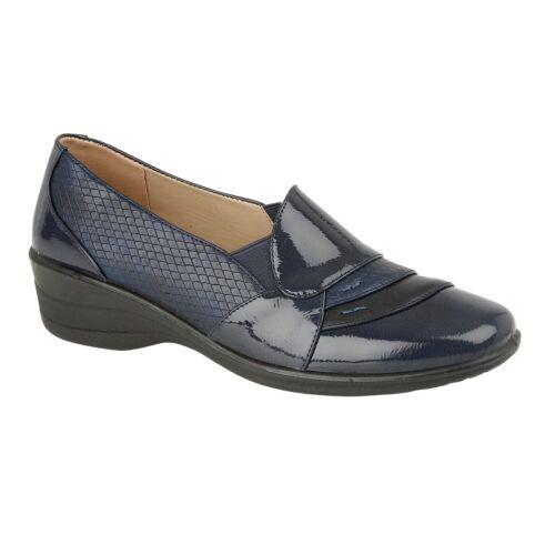 Ladies Work Shoes Comfort Wedge Heel Smart Women Office Moccasin Loafers Pumps