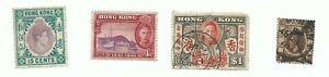 1-x-King-George-V-Hong-Kong-stamp-3-x-King-George-Hong-Kong-stamps-Used-RARE