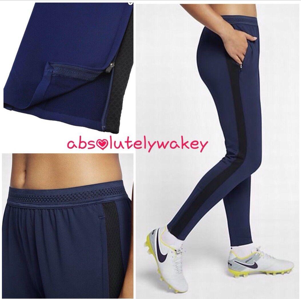 Nike Asciutto Squad Donna Calcio Pantaloni Binario Blu Nero