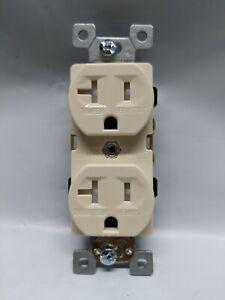 20 pc Decorator Duplex Receptacles 20 Amp Tamper Resistant ALMOND 20A TR