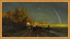 The rainbow Willem Roelofs Regenbogen Acker Feld Dorf Himmel Wetter B A1 03454