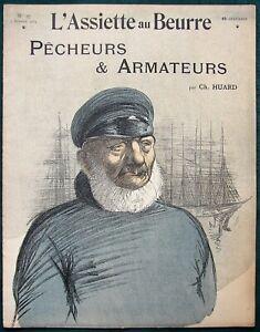 L Assiette Au Beurre 97 Fishermen Shipowners 1903 French Satire