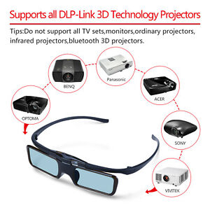 4-Packs-3D-Active-Shutter-Glasses-For-Optoma-BenQ-Sony-Epson-DLP-Link-Projector
