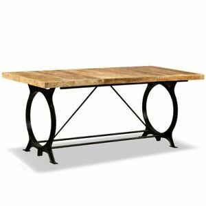 Vintage Rustic Large Dining Table Kitchen Room Industrial Furniture Metal Legs 785824625324 Ebay