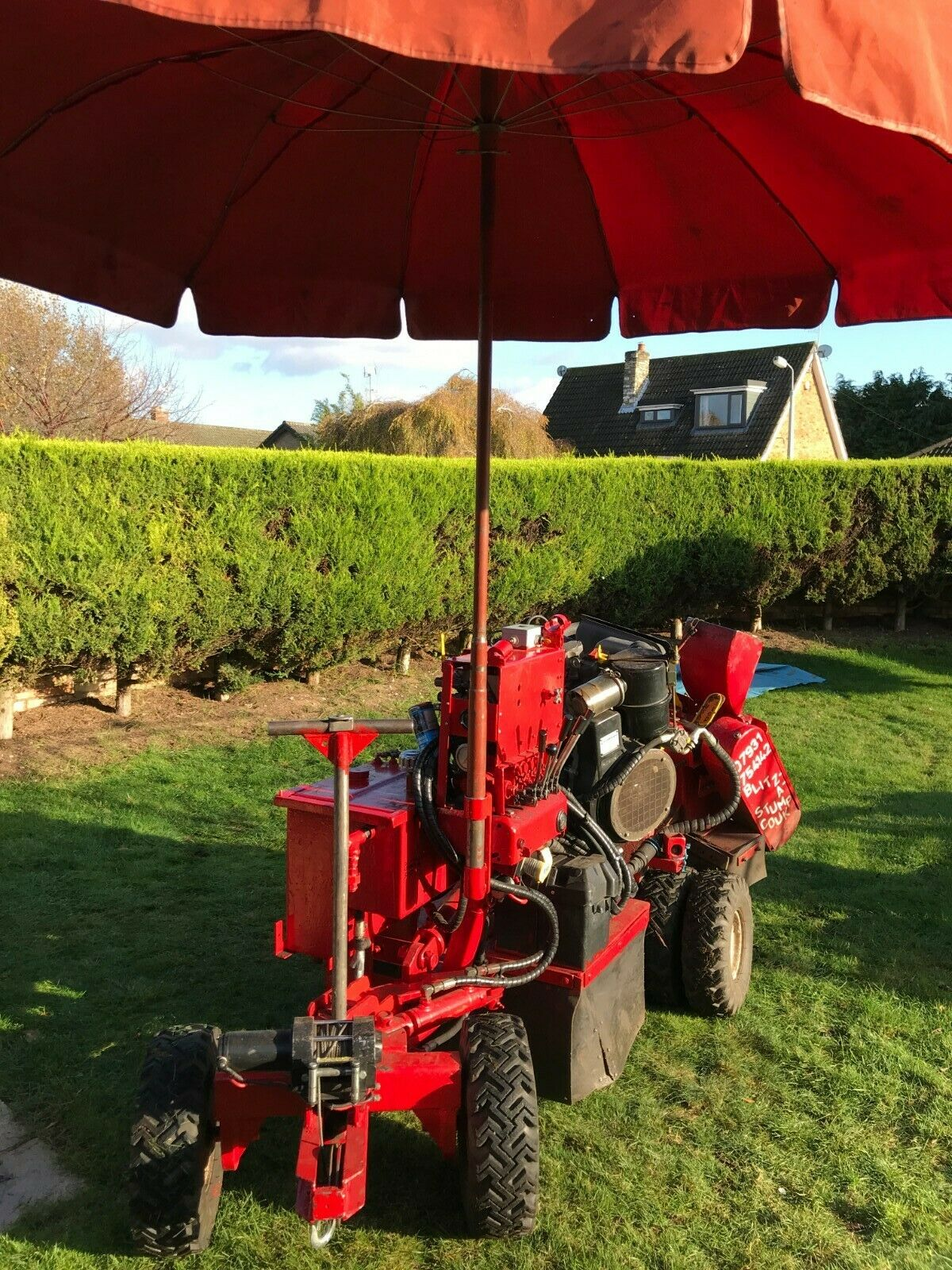 Carlton 2300-4 Stump Grinder Excellent Condition for the year,many added mods