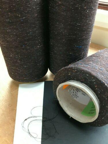 Oak Dk Brown Fine Silk//Cotton mix /'Skip/' Weaving Craft Machine Knit yarn 50NM