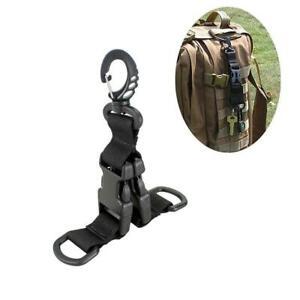 Outdoor-Military-Nylon-Webbing-Buckle-Hook-Holder-Clip-EDC-Climb-Carabiner-Belt