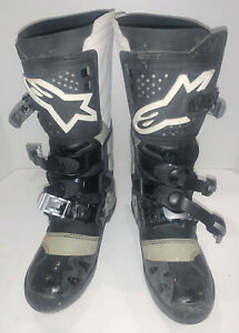 Alpinestars Tech 7 Size 10 Black Grey Motorcycle Off-Road Boots. Tor-que!