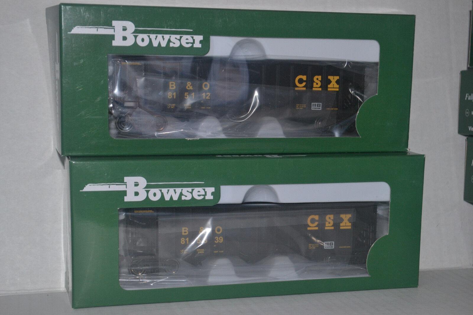 Bowser CSX B&O 100t hopper Ho Scale 41162, 41163