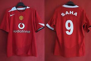 Maillot-Manchester-United-Nike-Vodafone-SAHA-n-9-Football-Vintage-shirt-M