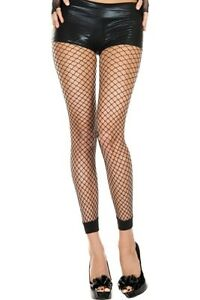 BLACK-LARGE-HOLE-FISH-NET-FENCE-FISHNET-SEXY-FOOTLESS-TIGHTS-ONE-SIZE-8-14-UK