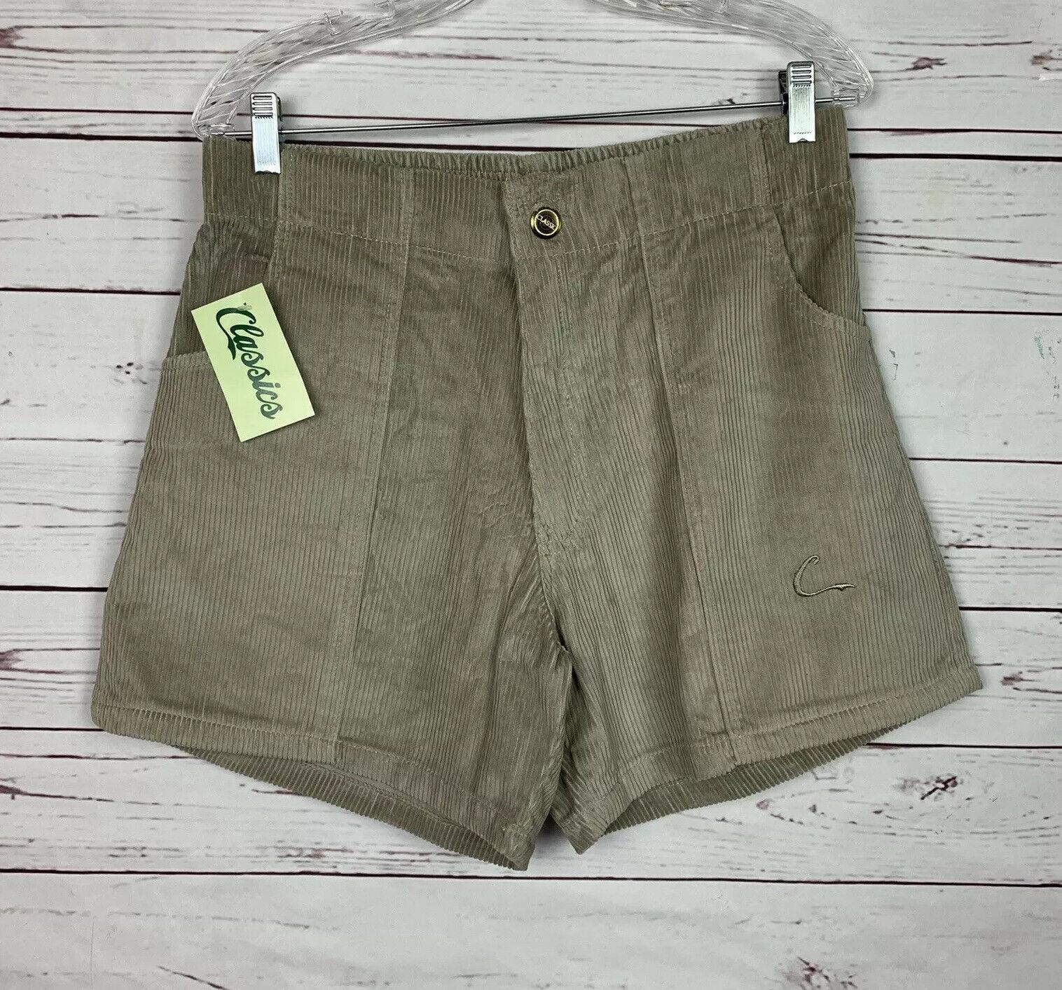 Vintage Tan Corduroy Classics OP Style shorts size 34-36