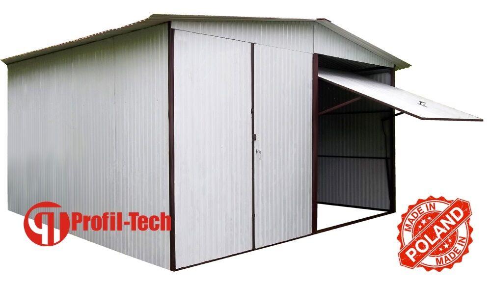 RAL 9010 5,5x5 Blechgarage Fertiggarage Metallgarage LAGERRAUM RAUM KFZ GARAGE