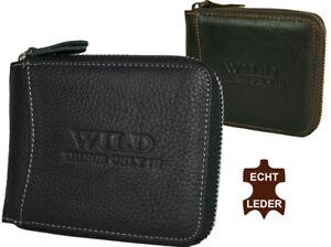 Herren-Leder-Geldboerse-Portemonnaie-Brieftasche-mit-Reissverschluss-RFID-Schutz